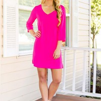 Make The Move Dress- Hot Pink - NEW ARRIVALS
