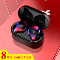 Mini Bluetooth Earphone Twins Wireless Bluetooth 5.0 Earbuds Sport 3D Stereo Sound Earphones with Charging Box for Mobile Phone