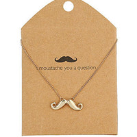Moustache necklace - Fashion Jewellery  - Accessories