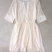 Crochet Ivory Paths Dress
