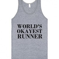 25% OFF world's Okayest Runner  Tank Top