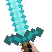 Minecraft Foam Diamond Sword