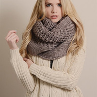 Heavyweight Thick Knit Infinity Scarf