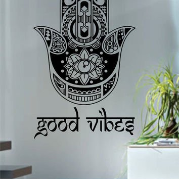 Good Vibes Hamsa Hand Version 4 Decal Sticker Wall Vinyl