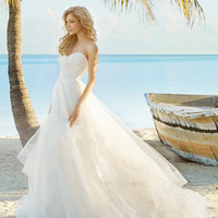 Blush by Hayley Paige Maisie 1504 Strapless Lace Ballgown Wedding Dress