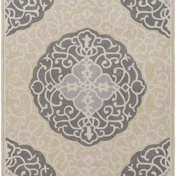 Surya Cosmopolitan Medallions and Damask Green COS-9302 Area Rug