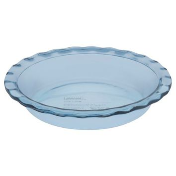 "Pyrex Tinted Glass 9"" Pie Plate - Atlantic Blue"