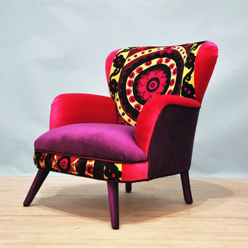 Suzani armchair - sunset