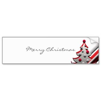 Christmas Tree red stickers