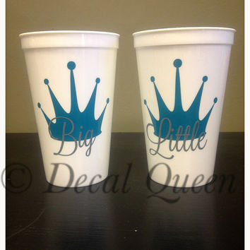 Big Little Sorority Stadium Cup Set