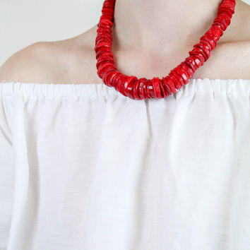 Graduated Bamboo Coral Necklace