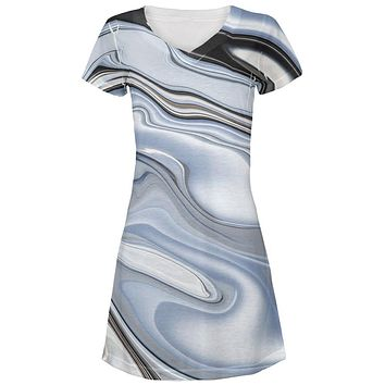 Halloween Liquid Chrome Costume All Over Juniors Beach Cover-Up Dress