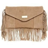 Tanny's Couture —  Suede Fringe Clutch