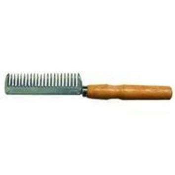 Partrade          P - Aluminum Tail Comb With Wood Handle For Horses