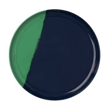 Green and Blue Dinner Plate