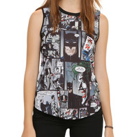 DC Comics Batman Panels Girls Muscle Top