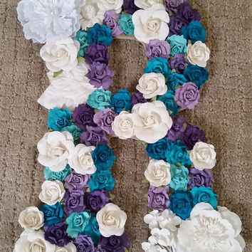 Elegant Floral Inspired Wooden Wall Accent - Letter R, home decor, decorative piece, wall art, initial