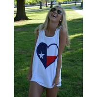Texas Pride Tank Top in White