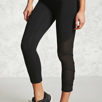 Active Crisscross Mesh Leggings