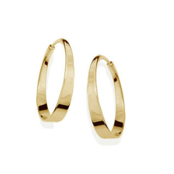 14kt Gold Aura Hoop earrings