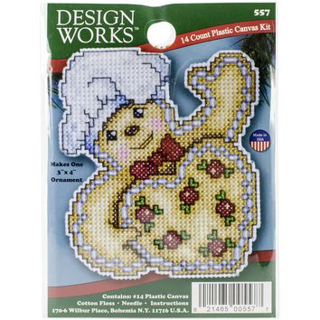 "Gingerbread (7 Count) Design Works Plastic Canvas Ornament Kit 4""X3"""