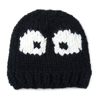Black Big Eyes Knitted Beanie