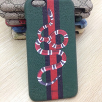 GUCCI Fashion Snake Print iPhone Phone Cover Case For iphone 6 6s 6plus 6s-plus 7 7plus
