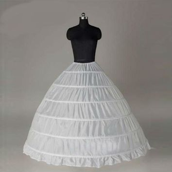 Ball Gown Petticoat For Wedding Dress White Hoops Petticoat Slip Underskirt