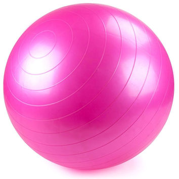 55cm Pink Exercise Ball with Foot Pump