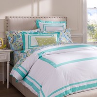 Suite Organic Duvet Cover + Sham, Pool