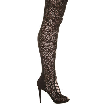 Zigi Maili Black Thigh High Boot