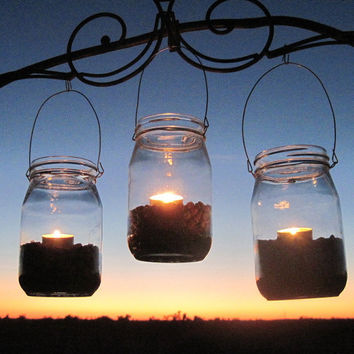 6 DIY Lanterns WIDE Mouth Mason Jar Hangers Ball by treasureagain