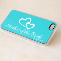 Personalized Phone Case, iPhone, Samsung Galaxy, Mother of the Bride, Hearts, Gift for Parents