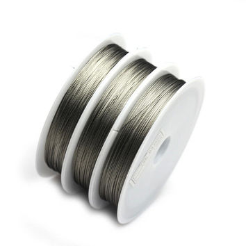 1ROLL 100M Silver Tiger Tail Beading wire 0.45mm jewelry making jewelry findings & components