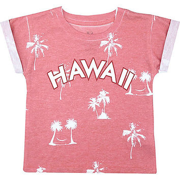 River Island Mini boys red Hawaii print t-shirt