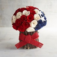 Patriotic Wood Curl Arrangement