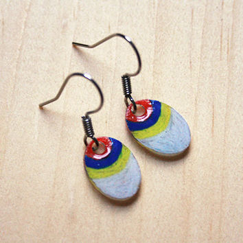 Red Blue Yellow & White Drops | earrings