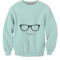 Aqua Hello Sweater