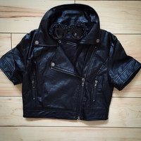 Cropped Rider Jacket {2 colors Available}