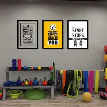 Canvas Wall Art: Home Gym Motivational Wall Art on Canvas