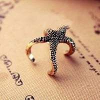 Golden Starfish Ring by forevervintage on Zibbet