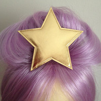 Adventure Time Lumpy Space Princess gold star hair clip PLAIN