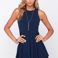 Pleat My Shorts Navy Blue Romper