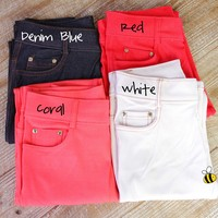 Perfect for Fall!! Colored Jegging - 10 Colors