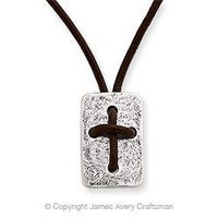 Leather Cross Shield Necklace from James Avery