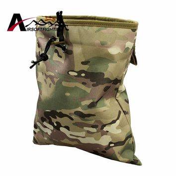 Tactical Magazine Dump Drop Reloader Pouch Bag with Molle Belt Utility Hunting Magazine Pouch Military Airsoft Hunting Bag Pouch