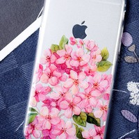 Clear | Cherry Flower iPhone Case