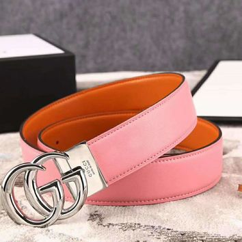 GUCCI New fashion women and men high quality belt Pink