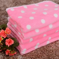 Super Soft Pastel Polka-Dot Blanket, machine washable
