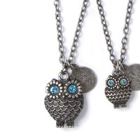 Big Sister Little Sister Silver Owl Pendant Necklaces – Claire's